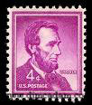 Abraham Lincoln postage stamp, 4 cent