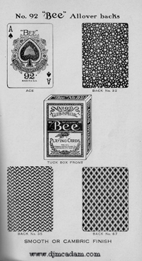 92 Bee Playing Cards