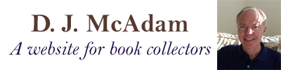 D J McAdam - A Website for Book Collectors