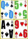 4 color deck of cards