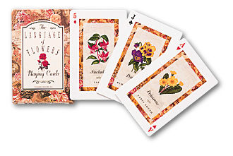 Language of Flowers playing cards